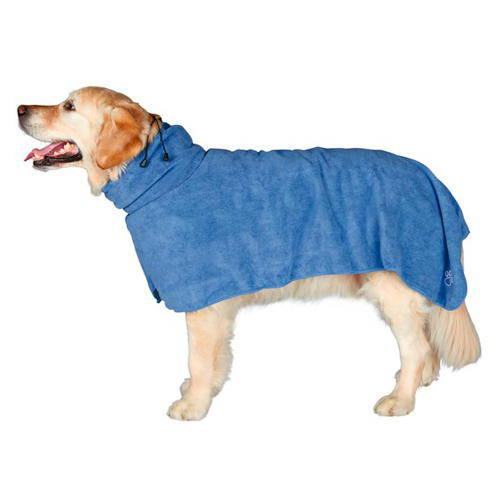 Albornoz de microfibra absorbente para perros