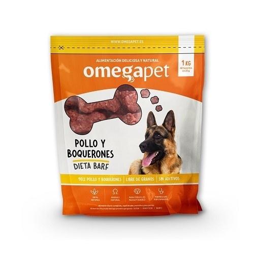 Alimentación de dieta BARF de pollo y boquerón para perros