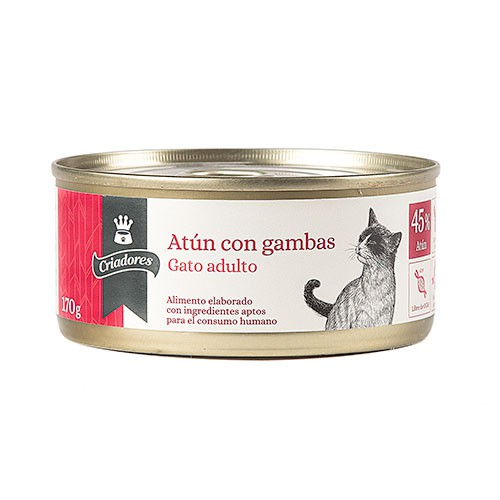 Wet cats food Criadores tuna and shrimps 170 gr