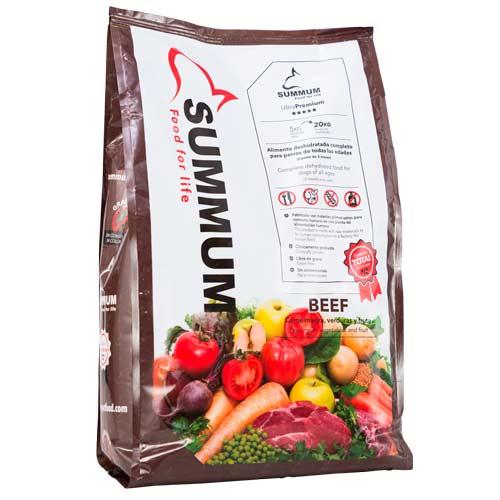 Alimento 100% natural para perros Summum con ternera