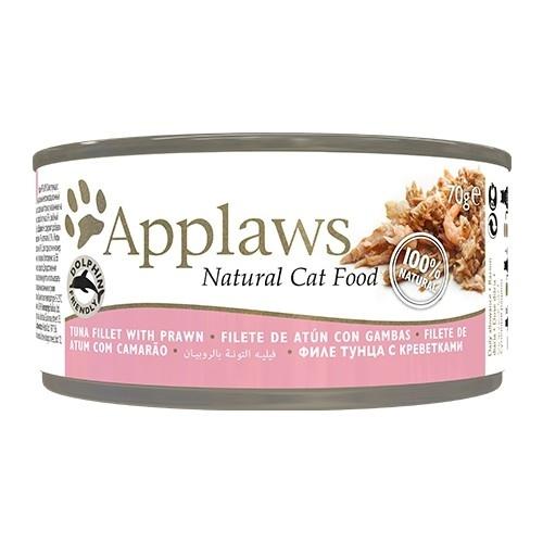 Applaws - Alimento fresco en latas Presentación Filete de Atún y Gambas