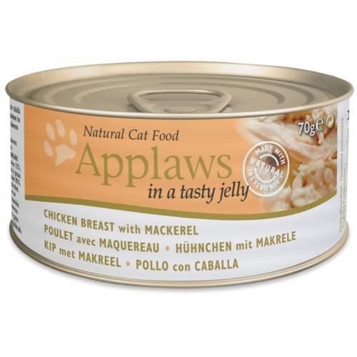 Applaws comida húmeda para gatos de pollo con caballa en gelatina