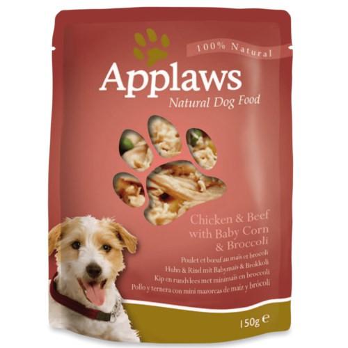 Applaws comida húmeda para perros en sobres de pollo y ternera