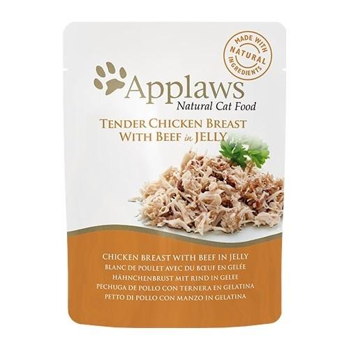 Applaws gelatina de pollo con ternera para gatos