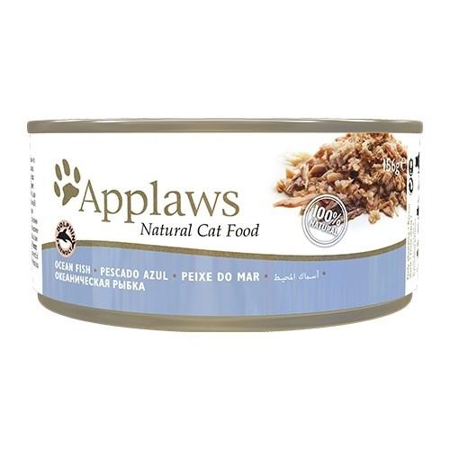 Applaws Ocean Fish comida húmeda para gatos en lata con pescado azul