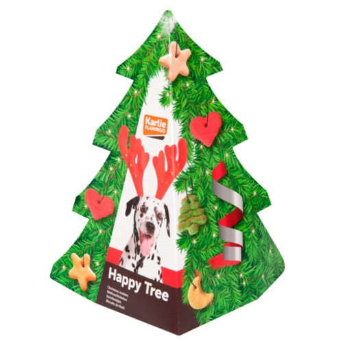 Christmas tree with dog biscuits