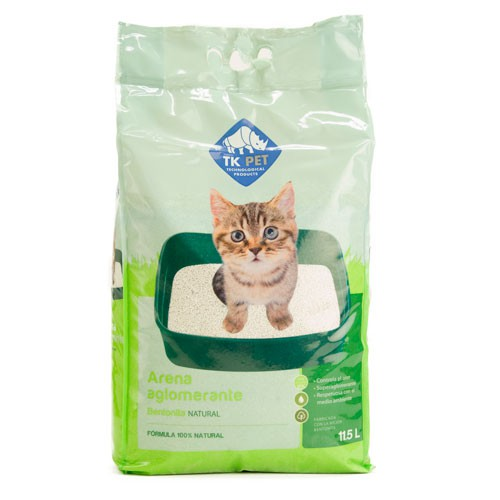 Arena aglomerante natural para gatos TK-Pet