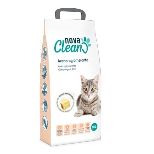 Arena aglomerante para gatos Nova Clean 10 l marsella