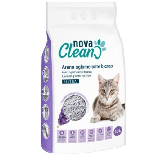 Arena aglomerante para gatos Nova Clean Ultra Lavanda
