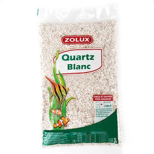 Arena decorativa Quartz para acuarios Presentación Quartz Blanc