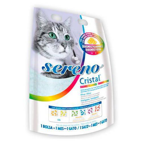 Arena diagnosticadora enfermedades urinarias gato Sereno Cristal