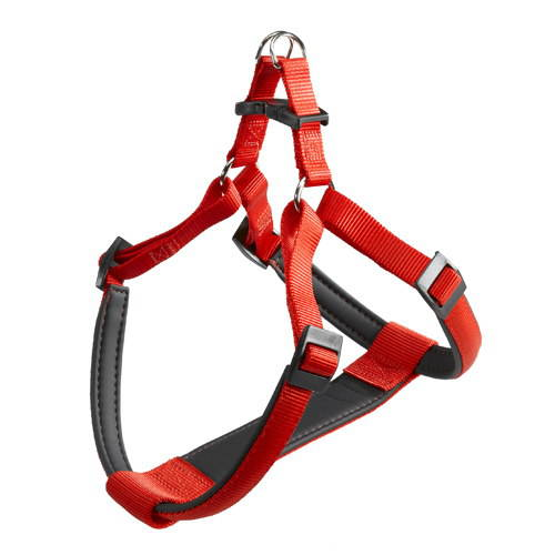 Nylon Harness with soft padding Ferplast Colour Red