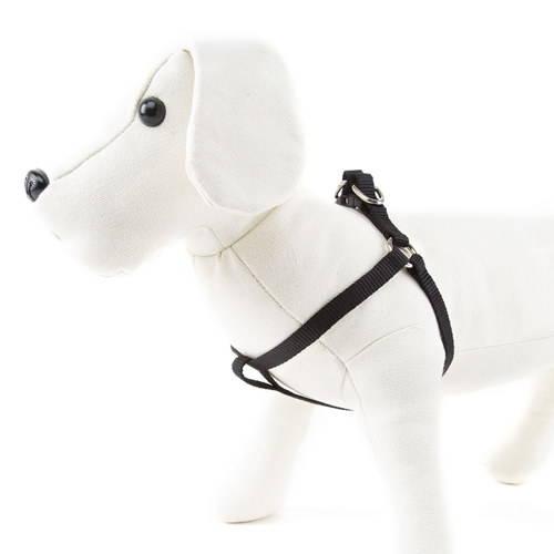 Linea Basic nylon dog harness Colour Black