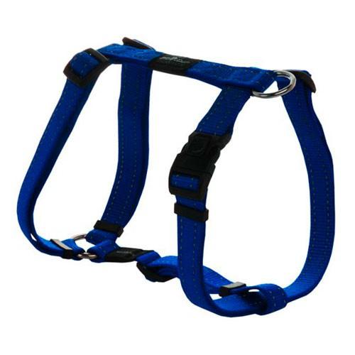 Arnés para perros Rogz Utility azul con costura reflectante
