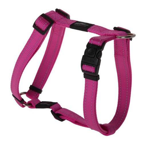 Arnés para perros Rogz Utility rosa con costura reflectante