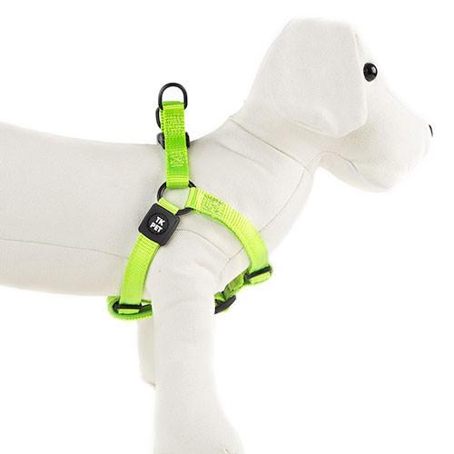 Arnés para perros TK-Pet Neo Classic verde lima de nylon y neopreno