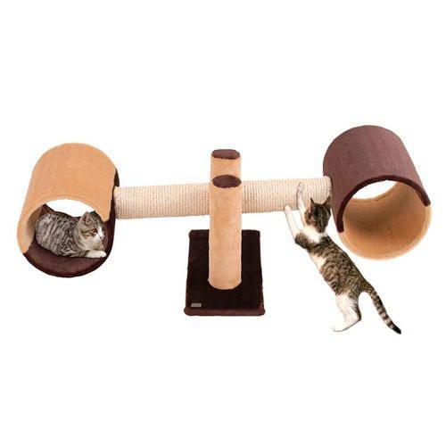 Rascador balancín divertido para gatos