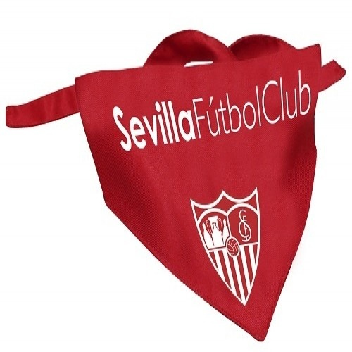 Bandana futbolera Sevilla para perros color Rojo