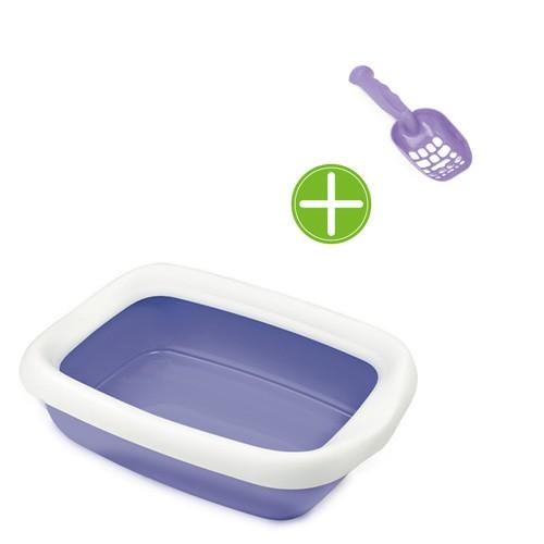 Bandeja sanitaria abierta exclusiva con pala fácil limpieza