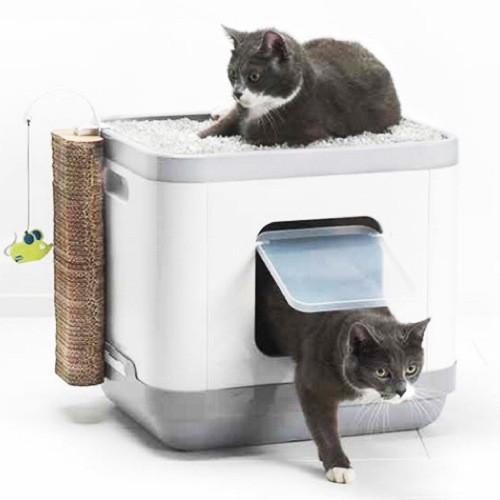 Bandeja sanitaria para gatos Catconcept con cojín y rascador