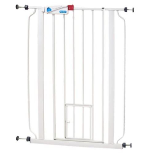 Barrera para perros con puerta gatera tiendanimal for Puerta seguridad perros