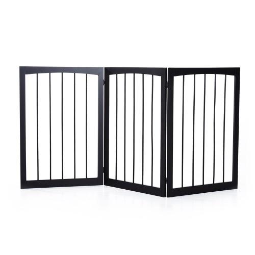 Barrera de seguridad plegable para perros color Café