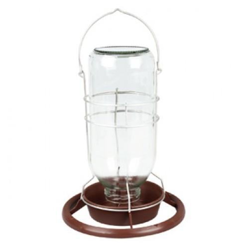 Bebedero para aves con forma de lámpara de mina