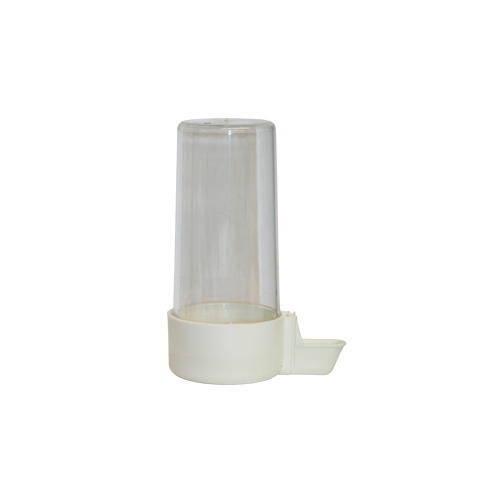 Bebedero de plástico de tubo para pájaros