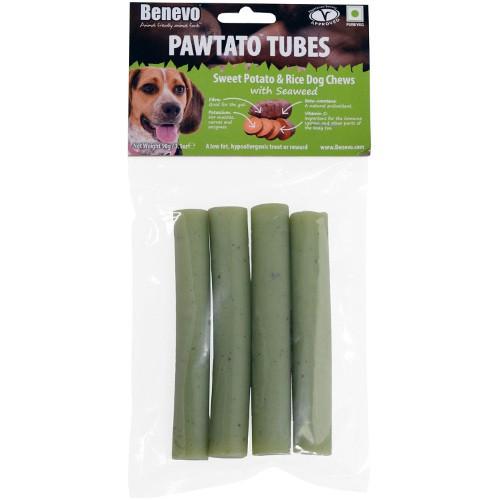 Benevo Pawtato Tubes snacks veganos para perros de algas