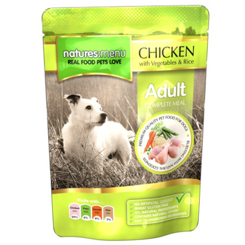 Bolsitas de comida h meda de pollo para perros natures for Estanque para perros