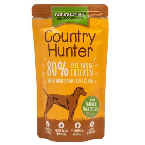 Bolsitas de comida húmeda de pollo para perros Natures Menu Country Hunter