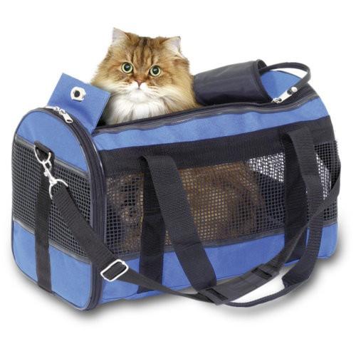 Bolso de transporte para perros y gatos Divina azul