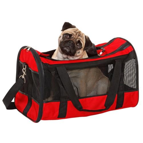 Bolso de transporte para perros y gatos Divina rojo