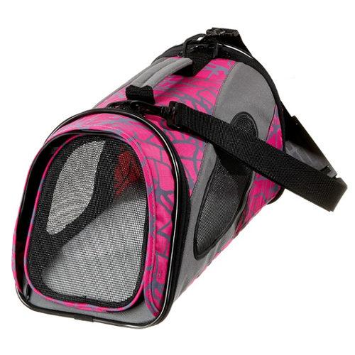 Bolso de transporte para perros y gatos rosa