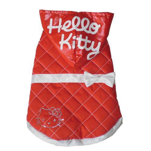 Bomber roja acolchada con capucha Hello Kitty