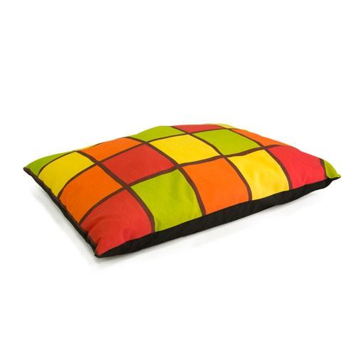 Cama colchón estampado cuadros TK-Pet