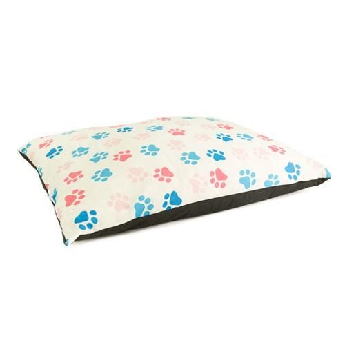 Cama colchón estampado huellas TK-Pet