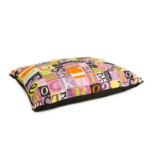 Cama colchón estampado letras TK-Pet ABC