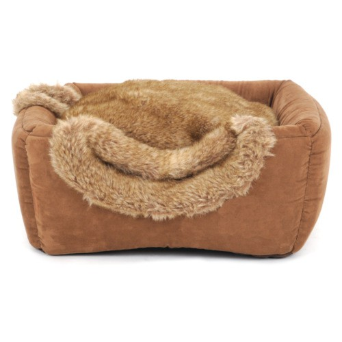 Cama cueva 2 en 1 para gatos Brownie Box