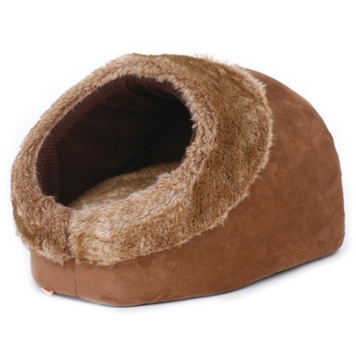 Cama cueva suave para gatos Brownie Boot