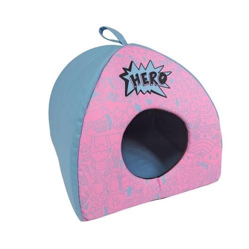 Cama igloo Hero blue color Azul y rosa