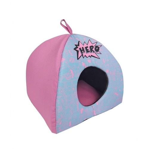Cama igloo Hero pink color Rosa y azul