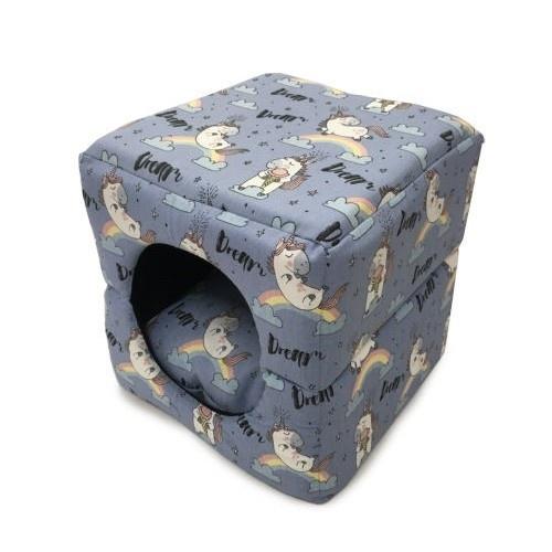 Cama para gatos Catshion Cube Relax cubo estampado