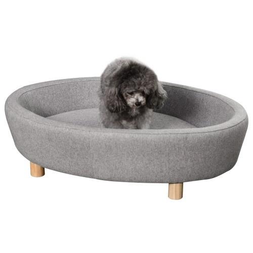 Sofá - Cama para mascotas con cojín acolchado extraíble color Gris