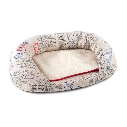 Cama para perros y gatos extra confort TK-Pet Post tipo cuna ovalada