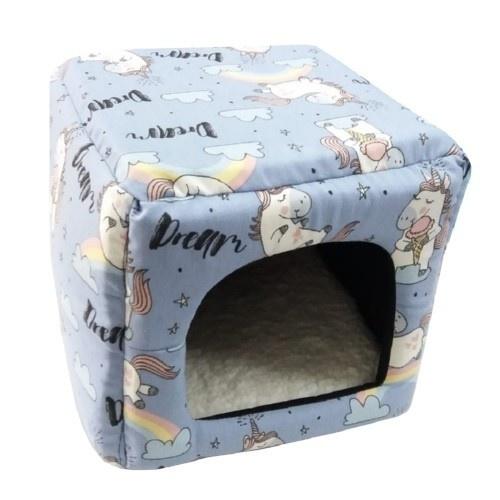 Cama para perros y gatos pequeños Small Life cubo