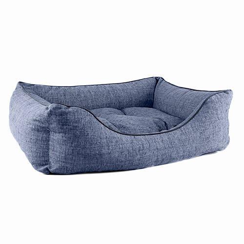 TK-Pet Iris denim premium padded dog crib