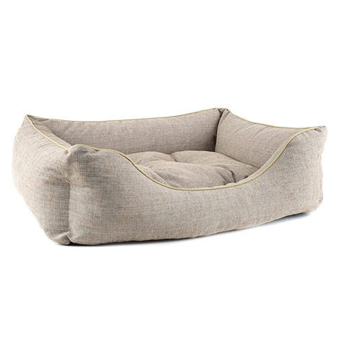 Cama para perros TK-Pet Iris tipo cuna mullida color beige deluxe