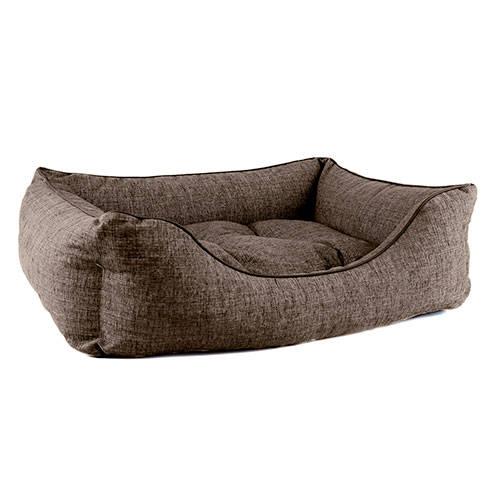 Cama para perros TK-Pet Iris tipo cuna mullida color marrón deluxe