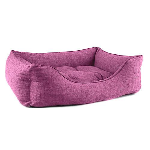 Cama para perros TK-Pet Iris tipo cuna mullida color morado deluxe